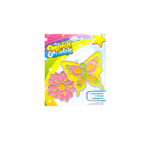 Colorbok, Butterfly With Flower Makit & Bakit Suncatcher Kit, 4 Pieces, 5.5 x 6 Inch, Ages 8 and up
