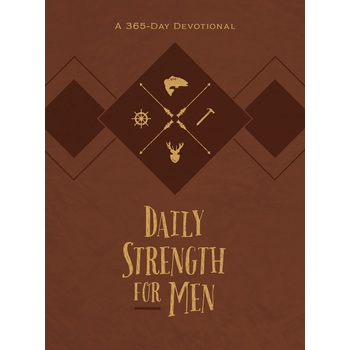 Daily Strength for Men: A 365-Day Devotional, by Chris Bolinger, Imitation Leather, Brown