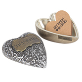 Demdaco, Thankful Art Heart Keeper, Silver and Gold, 3 x 3.5 inches