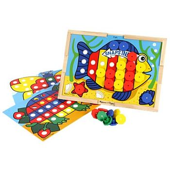 Melissa & Doug, Sort & Snap Color Match, Ages 2 to 4 Years Old, 75 Pieces
