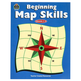 Teacher Created Resources, Beginning Map Skills Activity Book, Reproducible Paperback, 80 Pages, Grades 2-4