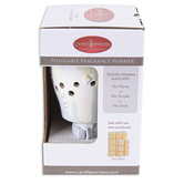 Candle Warmers, Iridescent Fragrance Warmer, Ceramic, White, 5 1/2 x 3 inches