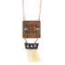 Wildflower Road, Thankful and Grateful Wood with Tassel Necklace, Wood, Brown, 30 inches