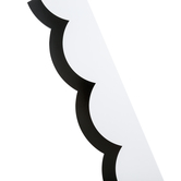 Schoolgirl Style, Simply Stylish Black and White Wavy Line Scalloped Borders Trim, 39 Feet