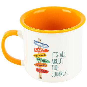 Abbey and CA Gift, Camping Is All About The Journey Coffee Mug, Ceramic, 16 ounces