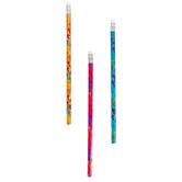 Fun Express, Cross Pencil, Wood, Assorted Colors, 7 1/2 inches, 1 Each