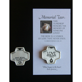 Cross Memorial Tear Pocket Token