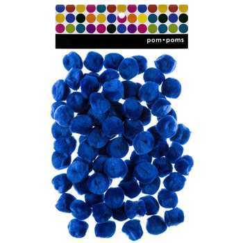 Tree House Studio, Pom Poms, 1 Inch, Royal Blue, 80 Count