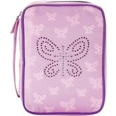 Dicksons, Jeweled Butterfly Canvas Bible Cover, Purple, Medium