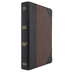 CSB Large Print Personal Size Reference Bible, Imitation Leather, Black & Brown