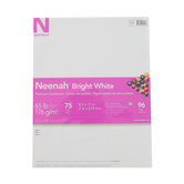 Neenah, Cardstock, Bright White, 75 pack