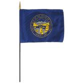 Annin Flagmakers, Nebraska State Flag, Polyester, 8 x 12 inches