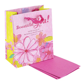 DaySpring, Psalm 90:17 Beautiful You Small Gift Bag with Tissue Paper, 6 1/2 x 5 1/2 x 3 inches