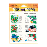 Faith That Sticks, Berries & Blessings Stickers, Package of 36