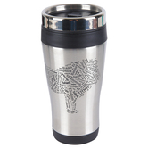 Holy Land Gifts, Names of God Lion of Judah Travel Mug, Black & Silver, 14 ounces