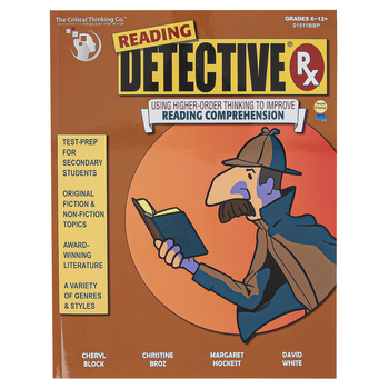 The Critical Thinking Co., Reading Detective Rx Workbook, Paperback, 192 Pages, Grades 6-12