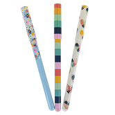 Mardel, Hearts, Flowers, and Stripes Carpe Diem Ballpoint Pens, 3 Piece Set