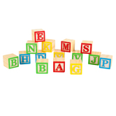 Woodpile Fun, Wood Letter Blocks, 15 Pieces, Grades 1-Adult