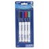 Pacon, Triangular Dry Erase Markers, Bullet Tip, Non-Toxic, Assorted Colors, 4-Pack
