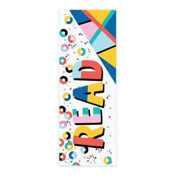 Colorfetti Collection, Read Bookmarks, 2 x 7 Inches, Pack of 36
