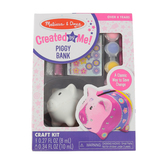 Melissa & Doug, Decorate Your Own Piggy Bank Kit, 3 Inches High, Ages 8 and up