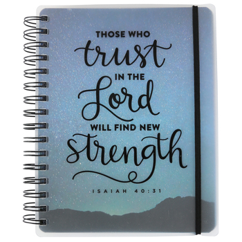SoulScripts, Isaiah 40:31 Trust in the Lord Journal, Spiral-Bound Polycover, Starry Sky, 6 1/2 x 8 1/2   inches, 140 pages