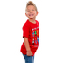 Gardenfire, Zephaniah 3:17 Pixel Hero, Kid's Short Sleeve T-Shirt, Red, Small
