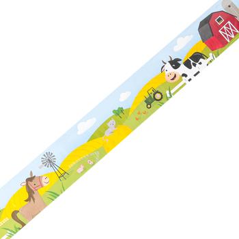 Creative Teaching Press, Farm Friends On the Farm Border, Straight Trimmer, Multi-Colored, 35 Feet