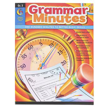 Creative Teaching Press, Grammar Minutes Workbook, Reproducible Paperback, 112 Pages, Grade 3