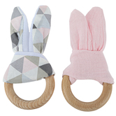 Brother Sister Design Studio, Baby Girl Teething Ring, 5 inches