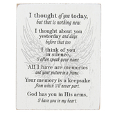 Dicksons, I Thought Of You Today Tabletop Plaque, Wood Grain, 3 x 4 x 1 inches