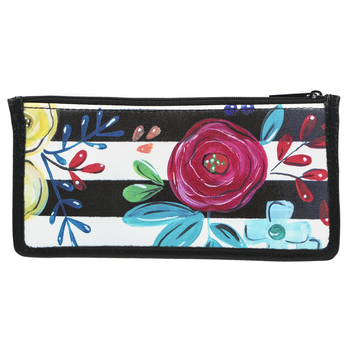 Brownlow Gifts, Bella Caroline, Black Carry-All Wallet, Vegan Leather, 8 x 4 inches