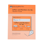 Handwriting Without Tears, Letters and Numbers for Me Kindergarten Teacher's Guide, Paperback, Grade K