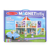 Melissa & Doug, Magnetivity Our House Magnetic Building Play Set, 100 Pieces, Ages 4 to 10