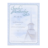 Warner Press, Church Membership Certificates and Envelopes, 8 1/2 x 11 inches, Set of 6
