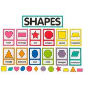 Schoolgirl Style, Just Teach Shapes Cards Mini Bulletin Board Set, 25 Pieces, Grades PK-2