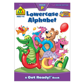 School Zone, Lowercase Alphabet Deluxe Preschool Workbook, Paperback, 64 Pages, Ages 3-5