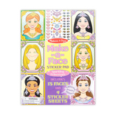 Melissa & Doug, Sparkling Princesses Make-a-Face Sticker Pad, Ages 4 Years and Older, 19 Pieces