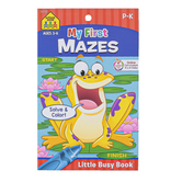 Little Busy Book, My First Mazes Workbook, 48 Pages, 5.37 x 8.50 Inches, Grades K-1