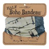 Natural Life, Tie-Dye Half Boho Bandeau, Polyester, Indigo & Cream, 9 x 10 inches