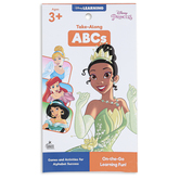 Carson Dellosa, My Take-Along Tablet Disney Princesses ABCs Activity Pad, Grades PreK-1, 64 Pages, Ages 3-7