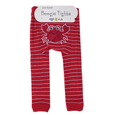 Piero Liventi, Crab Boogie Tights Baby Leggings, Red & White, Ages 6 to 12 Months
