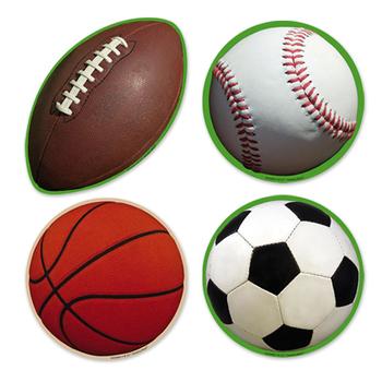 Sport Balls Assorted Cutouts