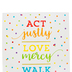 Carson-Dellosa, Act Justly Micah 6:8 Motivational Chart, 17 x 22 Inches, Multi-Colored, 1 Piece