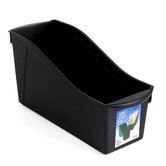 Storex, Large Book Bin, Black, 14 1/4 x 5 1/4 x 7 inches
