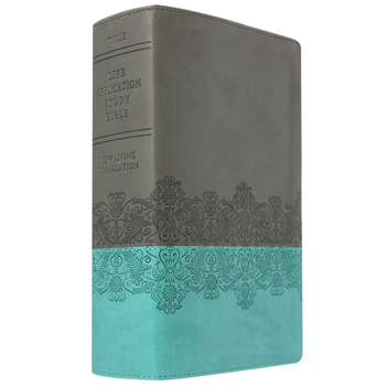 NLT Life Application Study Bible, Personal Size, Duo-Tone, Juniper and Gray Lace
