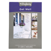 DaySpring, Sunny Days Get Well Boxed Cards, 12 Cards with Envelopes