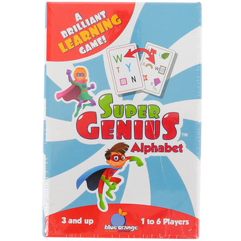 Blue Orange Games, Super Genius Alphabet, 1 to 6 Players, Ages 3 and Older