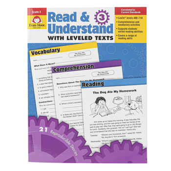 Evan-Moor, Read & Understand with Leveled Texts, Grade 3