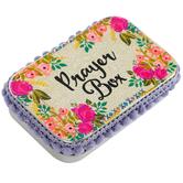 Natural Life, Pink Roses Prayer Box, Tin, 3 3/4 x 2 1/2 inches